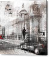 Digital-art London Composing Canvas Print