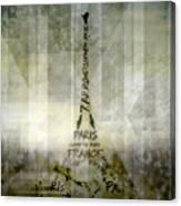 Digital-art Paris Eiffel Tower Geometric Mix No.1 Canvas Print