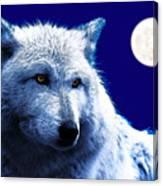 Digital Art Wolf Poster Canvas Print