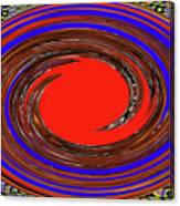 Digital Blue Red Plate Special Canvas Print