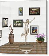 digital exhibition _ A sculpture of a dancing girl 12 Canvas Print