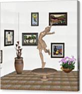 digital exhibition _ A sculpture of a dancing girl 14 Canvas Print