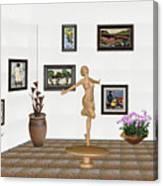 digital exhibition _ A sculpture of a dancing girl 3 Canvas Print