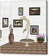 digital exhibition _ A sculpture of a dancing girl 8 Canvas Print