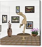 digital exhibition _ A sculpture of a dancing girl 9 Canvas Print