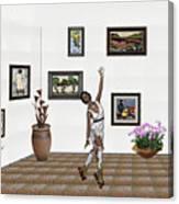 Digital Exhibition _ Dancing Girl  Canvas Print