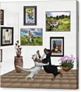Digital Exhibition _ Dancing Lovers Canvas Print