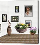 digital exhibition _ Flower basket 22 Canvas Print