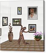 digital exhibition _ Girl 2 - Zombie  Canvas Print