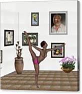 Digital Exhibition _ Girl Acrobat 34 Canvas Print