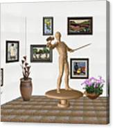 Digital Exhibition _ Guard Of The Exhibition 3 Canvas Print