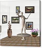 Digital Exhibition _ Guard Of The Exhibition2 Canvas Print