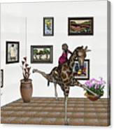digital exhibition _ It climbed up giraffe Canvas Print
