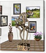 Digital Exhibition _ Modern  Statue   Of Dancing Girl Canvas Print