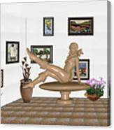 digital exhibition _ Sculpture 12 of girl  Canvas Print