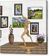 digital exhibition _ Statue 2 of Girl  - Zombie Canvas Print