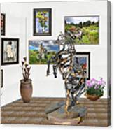Digital Exhibition _ Statue Of Branches Canvas Print