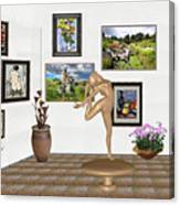 Digital Exhibition _ Statue Of  Erotic Acrobatics  2 Canvas Print
