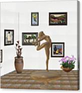 digital exhibition _ Statue of girl 42 Canvas Print