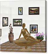 digital exhibition _ Statue of girl 49 Canvas Print