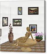 digital exhibition _ Statue of girl 52 Canvas Print