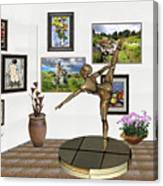 digital exhibition _ Statue of girl acrobat 35 Canvas Print