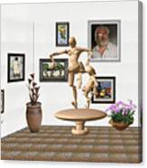 digital exhibition _ Statue of  Mother and child zombies Canvas Print