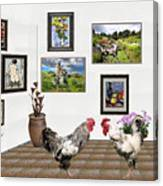 Digital Exhibition _ The World Is Narrow For Two Canvas Print