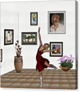 Digital Exhibition _dancing Girl 221 Canvas Print