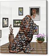 digital exhibition _Modern Statue of scrap Canvas Print
