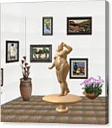 digital exhibition  Statue 23 of posing lady  Canvas Print