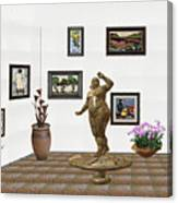 digital exhibition  Statue 25 of posing lady  Canvas Print