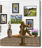 digital exhibition _Statue 4 of posing girl 221 Canvas Print