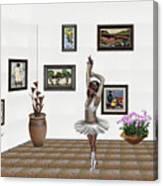 Digital Exhibition_my Dancing Girl Canvas Print