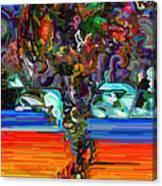 Digital Flowers Canvas Print