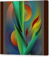 Digital Garden Dreaming Canvas Print