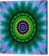 Digital Kaleidoscope Mandala 50 Canvas Print