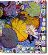 Digital Lilies Canvas Print