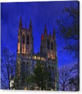 Digital Liquid - Washington National Cathedral After Sunset Canvas Print
