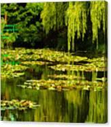 Digital Paining Of Monet's Water Garden  Canvas Print