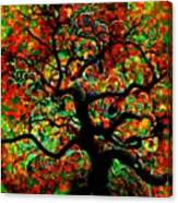 Digital Tree Impressionism Pixela Canvas Print