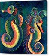 Digital Water Horse 2 Canvas Print