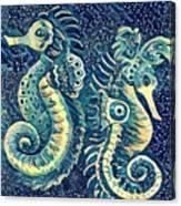 Digital Water Horse 3 Canvas Print