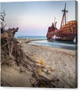 Dimitrios Shipwreck Canvas Print