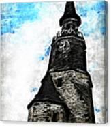 Dinan Clock Tower Canvas Print
