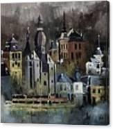 Dinant Watercolor Canvas Print