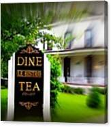 Dine Le Bistro Tea Canvas Print