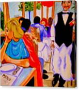 Diners At La Lutetia Canvas Print