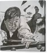 Ding Junhui Snooker Canvas Print
