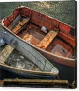 Dinghies At Rockport Canvas Print